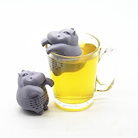 Hippo Shape Tea Infuser Silicone Reusable Tea Strainer Coffee Herb Filter Tea Bags