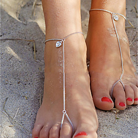 Heart Barefoot Sandals - Women's Gold / Silver Simple / Vintage / Casual Anklet For Daily / Holiday 6638059