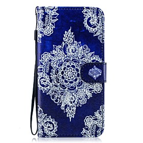 Case For Samsung Galaxy S9 Plus / S8 Plus Wallet / Card Holder / with Stand Full Body Cases Lace Printing Hard PU Leather for S9 / S9 Plus / S8 Plus