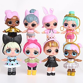 Tronzo 8Pcs/Bag Kawaii Boneca Animals Action Figures Toy Toys People Princess Plastic Shell 8pcs Pieces 6612008