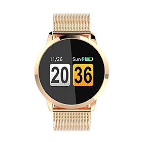 Q8 Smartwatch Android iOS Bluetooth Heart Rate Monitor APP Control Calories Burned Exercise Record Pedometer Call Reminder Sleep Tracker Sedentary Reminder Fin