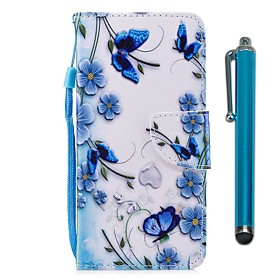 Case For Wiko WIKO Sunny 2 plus Wallet / Card Holder / with Stand Full Body Cases Butterfly Hard PU Leather for Wiko View XL / Wiko View / WIKO Sunny 2 plus