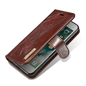 Case For Apple iPhone X iPhone 8 Card Holder Flip Magnetic Full Body Cases Solid Colored Hard Genuine Leather for iPhone X iPhone 8 Plus 6608401