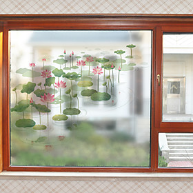 Window Film  Stickers Decoration Contemporary Flower / Floral PVC(PolyVinyl Chloride) Window Sticker / Matte