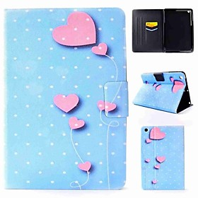 Case For Apple iPad mini 4 / iPad Pro 9.7 Flip Full Body Cases Heart Hard PU Leather for iPad Air / iPad 4/3/2 / iPad Mini 3/2/1