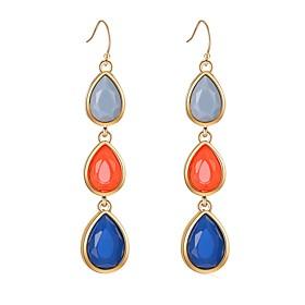 Women's 3 stone Drop Earrings Resin Earrings Classic Bohemian Sweet Jewelry Rainbow For Gift Evening Party