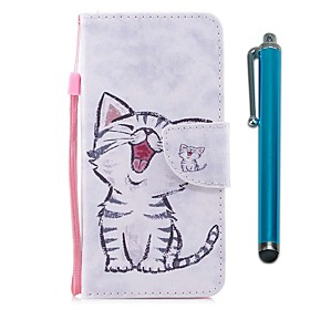 Case For Wiko WIKO Sunny 2 plus Wallet / Card Holder / with Stand Full Body Cases Cat Hard PU Leather for Wiko View XL / Wiko View / WIKO Sunny 2 plus