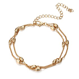 women's chain bracelet - gothic / casual / double layered geometric gold / silver bracelet for daily 6714344