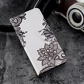 Case For Apple iPhone X / iPhone 8 Plus Wallet / Card Holder / with Stand Full Body Cases Lace Printing Hard PU Leather for iPhone X / iPhone 8 Plus / iPhone 8