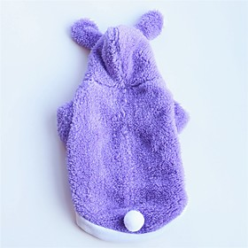 Dogs Cats Pets Dog Clothes Solid Colored Simple Rabbit / Bunny Red Blue Pink Cotton Costume For Corgi Beagle Shiba Inu Winter Female Casual / Daily Keep Warm