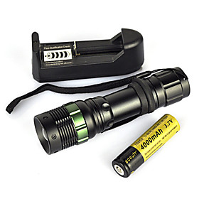 900 lm LED Flashlights / Torch / Diving Flashlights / Torch / Handheld Flashlights / Torch LED 1 Mode Portable / Professional / Wearproof
