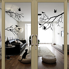 Window Film  Stickers Decoration Lovely / Halloween Character PVC(PolyVinyl Chloride) Window Sticker / Water-Repellent / Living Room / Bath Room / Shop / Cafe