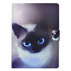 Case For Samsung Galaxy Tab 3 10.1 Card Holder / Shockproof / with Stand Full Body Cases Cat Hard PU Leather for Tab 3 10.1