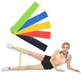 Exercise Resistance Bands Emulsion Calories Burned Non Toxic Stretchy Strength Training Physical Therapy Yoga Pilates Fitness For Home Office
