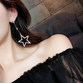 Women's Rhinestone Drop Earrings - Star Gold, Silver 6681316