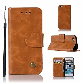 Case For Apple iPhone 5 Case Wallet / Card Holder / with Stand Full Body Cases Solid Colored Hard PU Leather for iPhone SE / 5s / iPhone 5