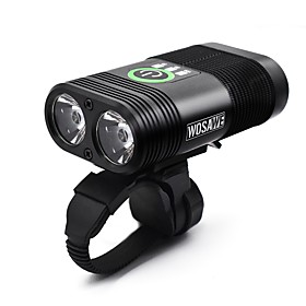 Dual LED Bike Light Front Bike Light Headlight Cycling Waterproof Portable Quick Release Li-polymer 2400 lm White Camping / Hiking / Caving Cycling / Bike - WO