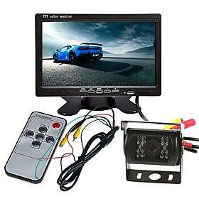 ZIQIAO Truck Bus Large Vehicle Camera Monitor Kit 7 inch TFT LCD Color Rear View Monitor Backup IR LED Camera Waterproof