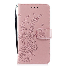 Case For Apple iPhone X / iPhone 8 Wallet / with Stand / Flip Full Body Cases Flower Hard PU Leather for iPhone X / iPhone 8 Plus / iPhone 8
