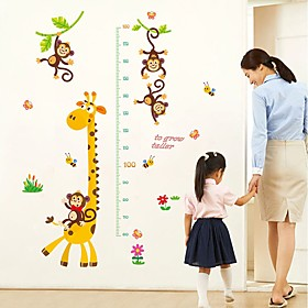 Decorative Wall Stickers Height Stickers - Plane Wall Stickers Animals Living Room Bedroom Bathroom Kitchen Dining Room Study Room /
