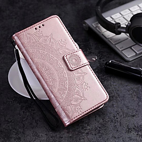 Case For Samsung Galaxy S9 Plus / S9 Wallet / Card Holder / Flip Full Body Cases Flower Hard PU Leather for S9 / S9 Plus / S8 Plus