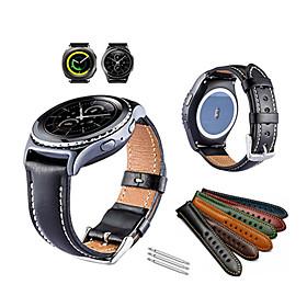 Watch Band for Gear Sport / Gear S2 Classic Samsung Galaxy Sport Band Genuine Leather Wrist Strap
