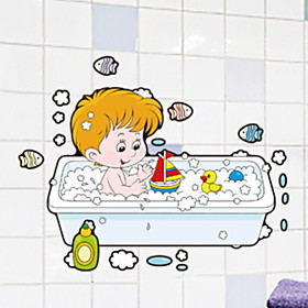 Wall sticker Waterproof / New Design / Self-adhesive Ordinary / Cartoon / Modern PVC(PolyVinyl Chloride) 1pc Bathroom Decoration