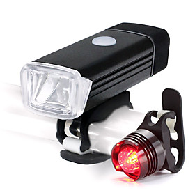 LED Bike Light Rechargeable Bike Light Set Front Bike Light Rear Bike Tail Light Mountain Bike MTB Cycling Waterproof Portable Lightweight Li-ion 500 lm White