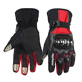 RidingTribe Full Finger Unisex Motorcycle Gloves Leather / Cotton Cloth Waterproof / Keep Warm / Touch Screen 6734022