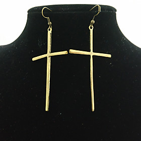 Women's Long Drop Earrings Earrings Basic European Fashion Jewelry Gold For Daily Evening Party 1 Pair