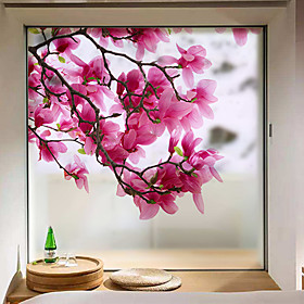 Window Film  Stickers Decoration Matte / Contemporary Flower / Floral PVC(PolyVinyl Chloride) Window Sticker / Matte