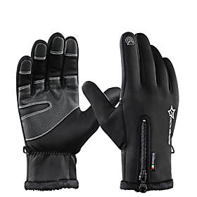 ROCKBROS Full Finger Unisex Motorcycle Gloves Flannel Waterproof / Keep Warm / Breathable 6761498
