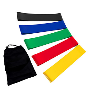 Exercise Resistance Bands Emulsion Calories Burned Stretchy Strength Training Physical Therapy Yoga Pilates Fitness For Home Office