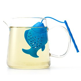Silicone Fish Tea Infuser Loose Leaf Spice Herbal Strainer Filter Diffuser