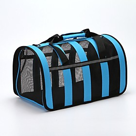 Dogs Rabbits Cats Cages Carrier  Travel Backpack Shoulder Bag Pet Carrier Portable Mini Camping  Hiking Patchwork Fashion Lolita Green Blue Black