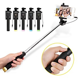 VORMOR Selfie Stick Wired Extendable Max Length 60 cm For Android / Universal / iOS Android / iOS For Iphone / Huawei / Xiaomi
