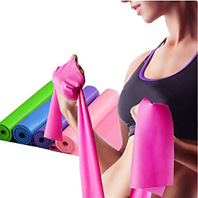 Exercise Resistance Bands With 1 pcs Emulsion Stretchy Strength Training, Physical Therapy For Yoga / Pilates / Fitness Home / Office