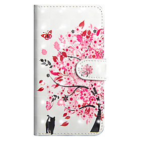 Case For Apple iPhone X / iPhone 8 Plus Wallet / Card Holder / with Stand Full Body Cases Cat / Tree Hard PU Leather for iPhone X / iPhone 8 Plus / iPhone 8