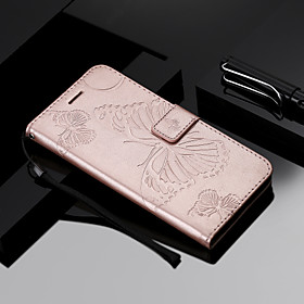 Case For Apple iPhone X / iPhone 8 / iPhone XS Wallet / Card Holder / Flip Full Body Cases Butterfly Hard PU Leather for iPhone XS / iPhone XR / iPhone XS Max