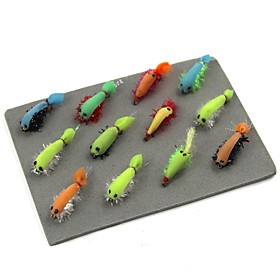 12 pcs Flies / Fishing Accessories Set / Fishing Accessories Flies Carbon Steel Easy to Carry / Light and Convenient Sea Fishing / Fly Fishing / Bait Casting /