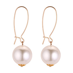 Women's Long Drop Earrings Imitation Pearl Earrings Simple European Fashion Jewelry Gold For Party / Evening Daily 1 Pair