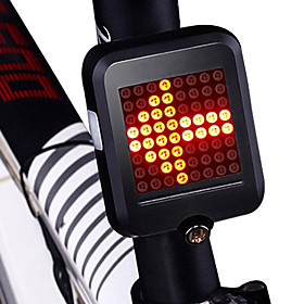 LED Bike Light Safety Light Tail Light Cycling Waterproof New Design Lightweight Lithium Battery 80 lm Red Cycling / Bike