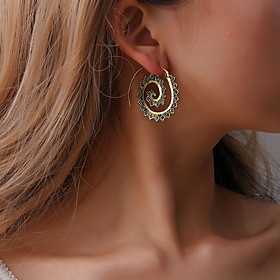 Women's Vintage Style Stud Earrings Hoop Earrings - Gear Simple, Bohemian, Fashion Gold / Silver For Party Daily Street / Steampunk