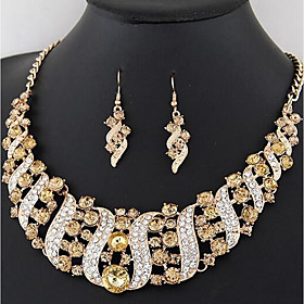 Women's Thick Chain Jewelry Set - Stylish, Classic Include Drop Earrings Collar Necklace Rainbow / Red / Champagne For Wedding Party