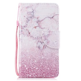 Case For Apple iPhone 6 / iPhone 6s Wallet / Card Holder / Flip Full Body Cases Marble Hard PU Leather for iPhone 6s / iPhone 6