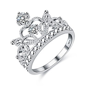 Women's Diamond Cubic Zirconia Stylish Ring S925 Sterling Silver Ladies Ring Jewelry Silver For Holiday Going out 6 / 7 / 8 / 9