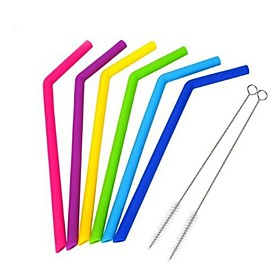 Drinkware Straws Full Body Silicone Portable / Boyfriend Gift / Girlfriend Gift Event / Party