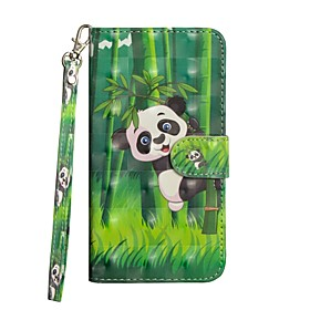 Case For Samsung Galaxy S9 Plus / S8 Plus Wallet / with Stand / Flip Full Body Cases Panda Hard PU Leather for S9 / S9 Plus / S8 Plus