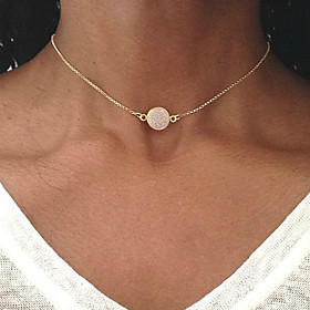 Women's Single Strand Choker Necklace / Pendant Necklace - Resin Drop Simple, Korean, Fashion Gold 42 cm Necklace Jewelry 1pc For Gift, Evening Party, Street