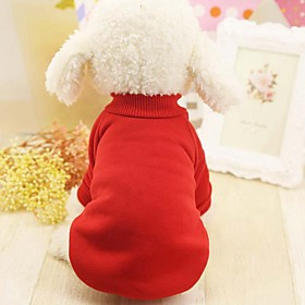 Dogs / Cats / Furry Small Pets Coat / Sweatshirt Dog Clothes Solid Colored / Other Blue / Pink / Black Other Material / Woolen Costume For Pets Female Sports